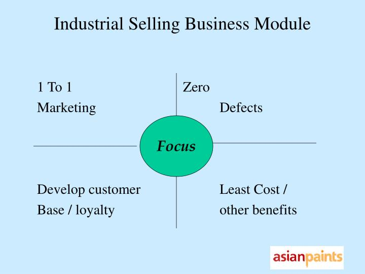 Industrial Selling Business Module