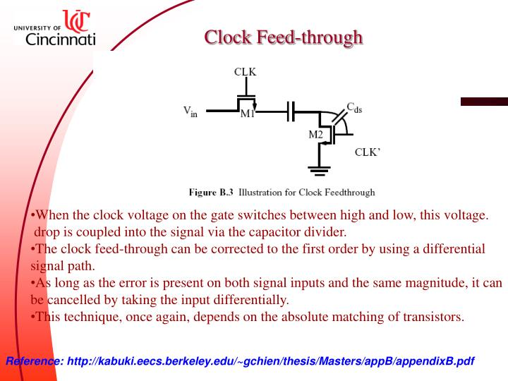 Clock Feed-through