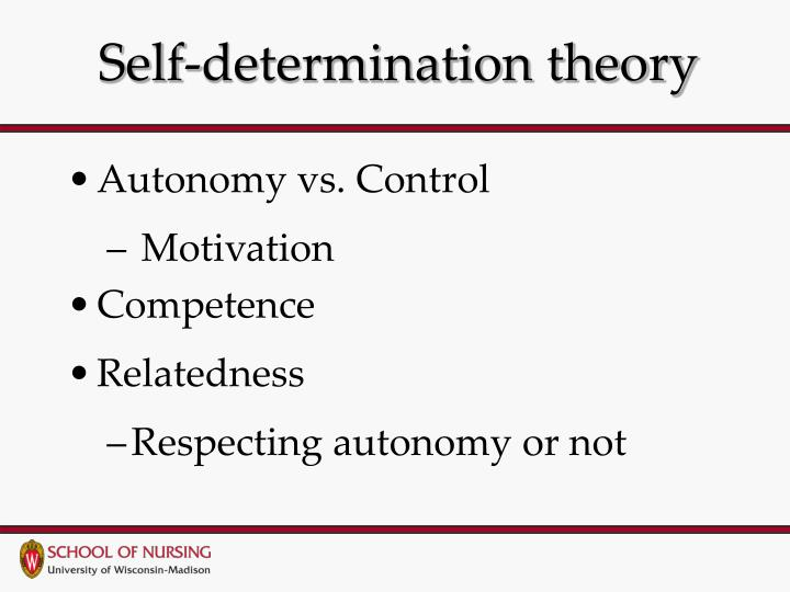 theory of pre determination Nursing education & motivation  immunology for nurses based on self-determination theory  1 week post lecture/pre-test open forum content review.