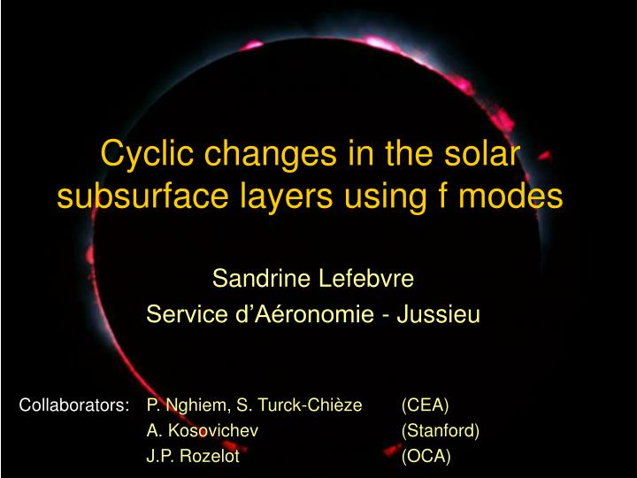 Cyclic changes in the solar subsurface layers using f modes