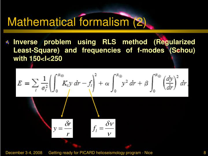 Mathematical formalism (2)