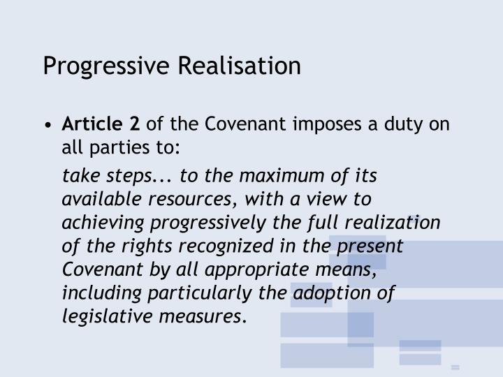 Progressive Realisation