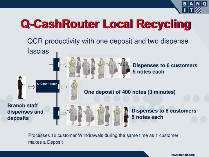 Q-CashRouter Local Recycling