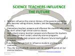 science teachers influence the future