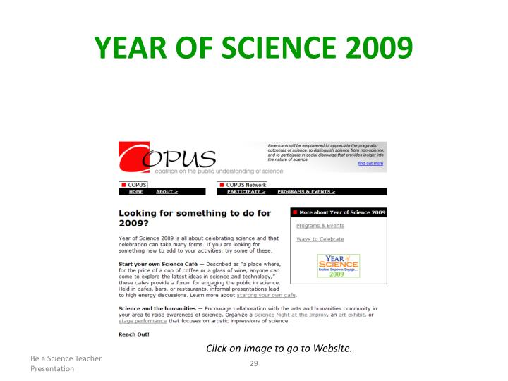 Year of Science 2009