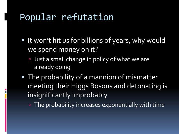 Popular refutation