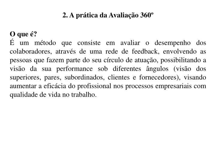 2. A prática da Avaliação 360º