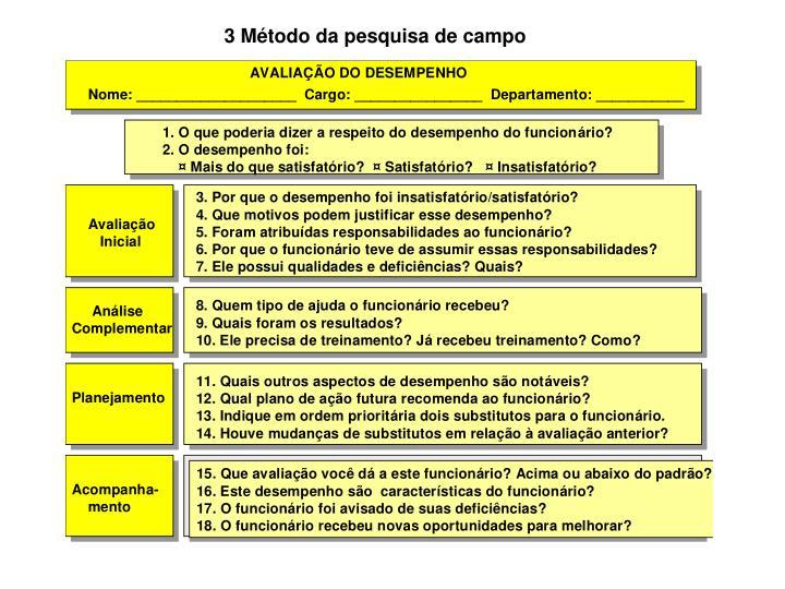 3 Método da pesquisa de campo
