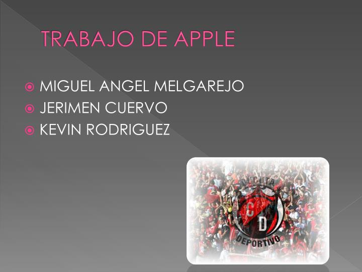 Trabajo de apple