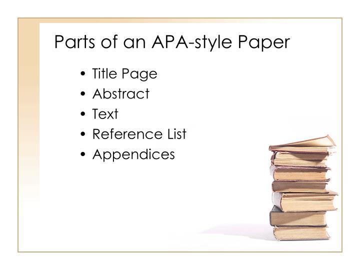 parts of a term paper apa