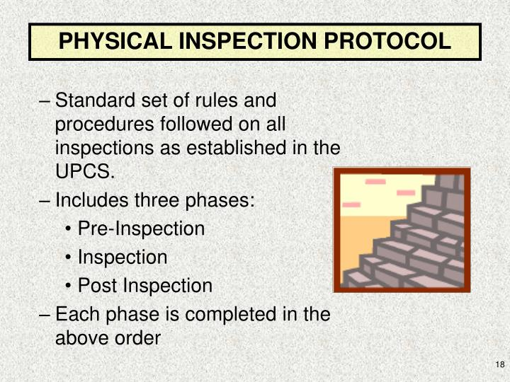 PHYSICAL INSPECTION PROTOCOL
