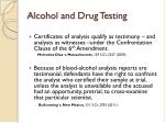 alcohol and drug testing