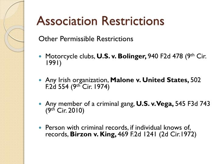 Association Restrictions