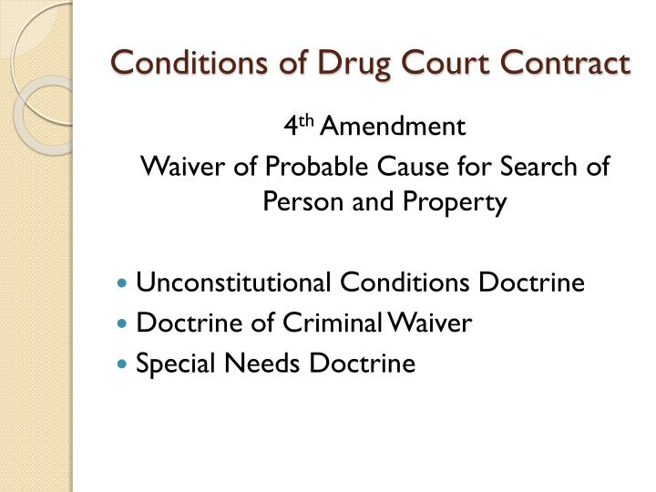 Conditions of Drug Court Contract