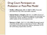 drug court participant on probation or post plea model