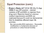 equal protection cont