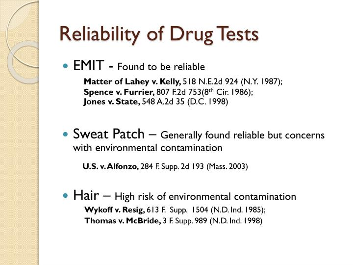Reliability of Drug Tests