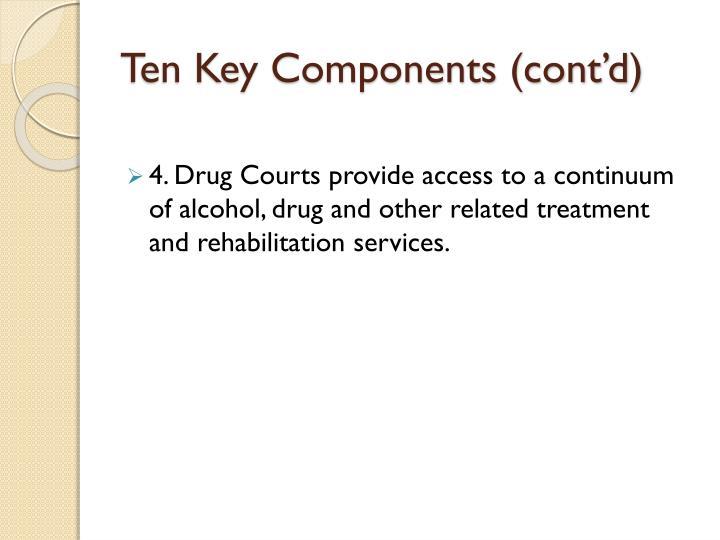 Ten Key Components (cont'd)