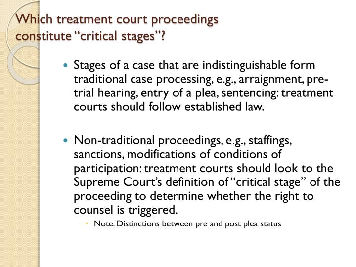 Which treatment court proceedings