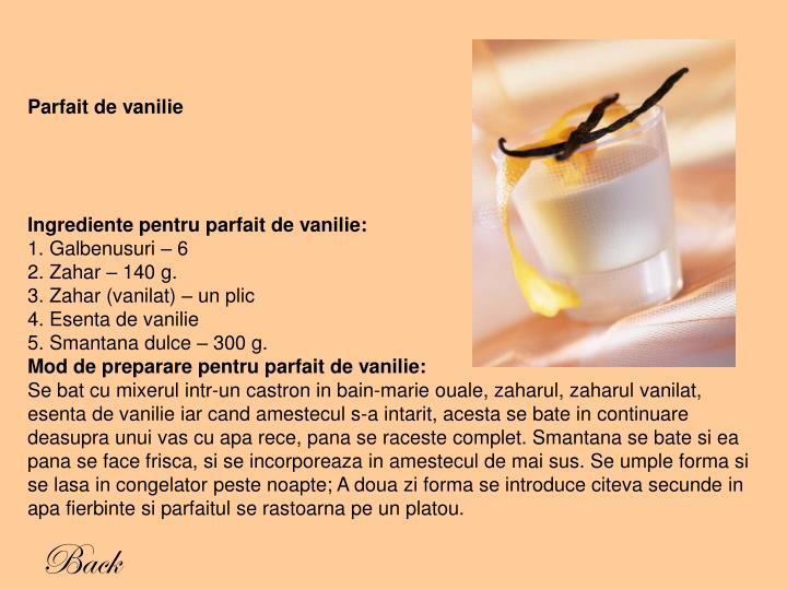 Parfait de vanilie