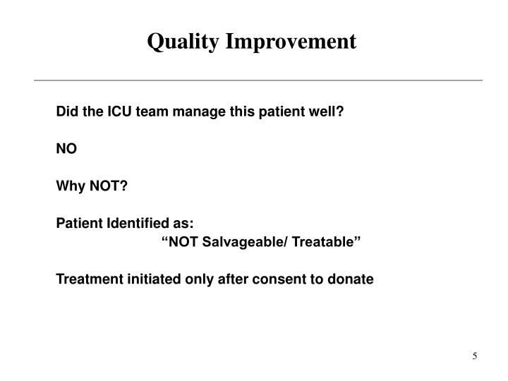 Quality Improvement
