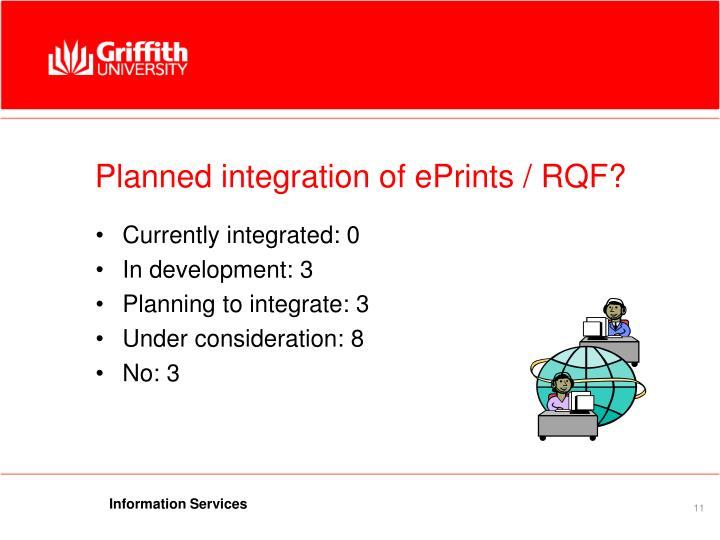 Planned integration of ePrints / RQF?