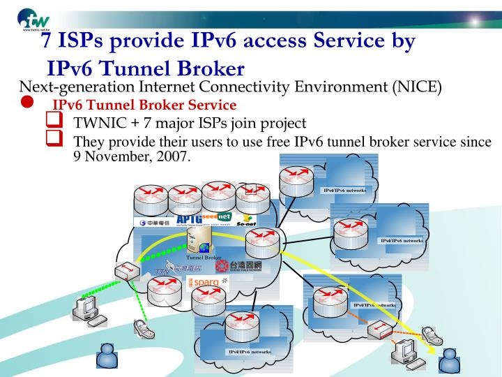 7 ISPs provide IPv6 access Service by