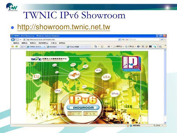 TWNIC IPv6 Showroom