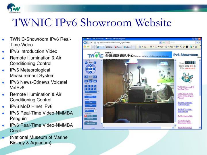 TWNIC IPv6 Showroom Website