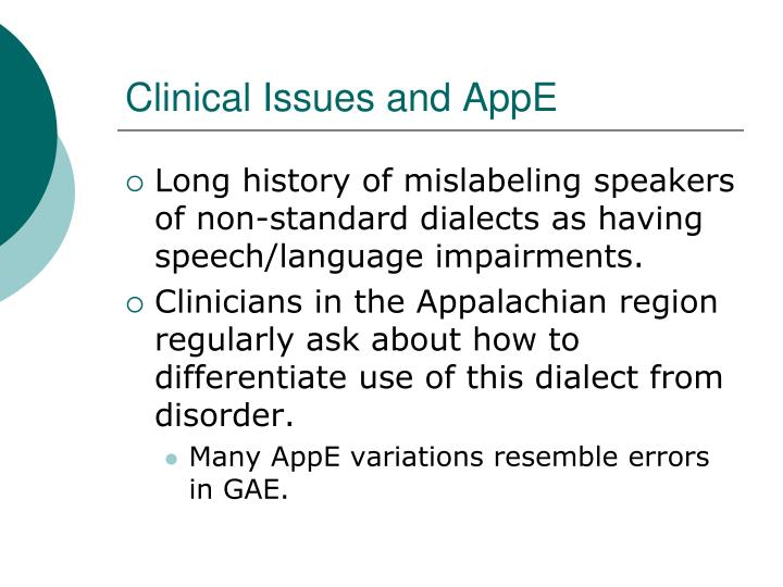 Clinical Issues and AppE