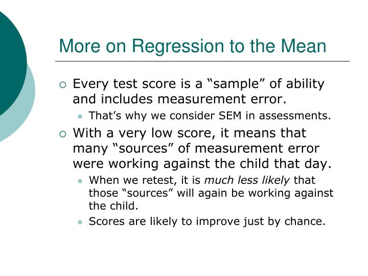 More on Regression to the Mean