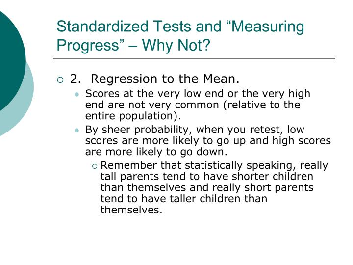 "Standardized Tests and ""Measuring Progress"" – Why Not?"