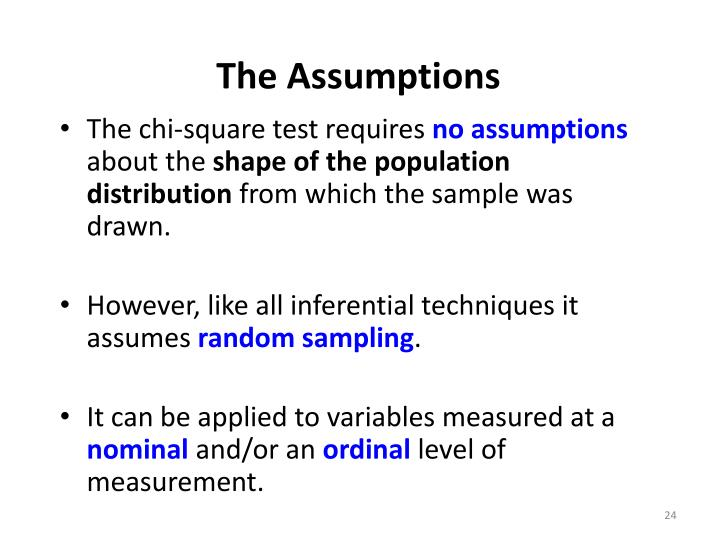 The Assumptions