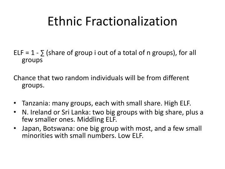 Ethnic Fractionalization