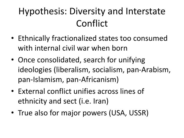 Hypothesis: Diversity and Interstate Conflict