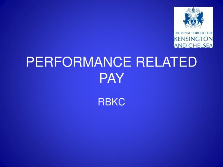 Performance related pay