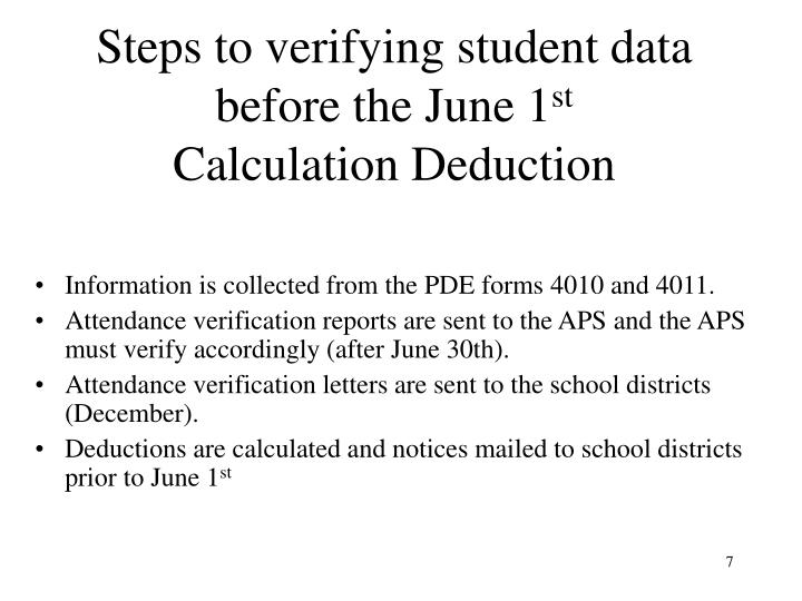Steps to verifying student data before the June 1