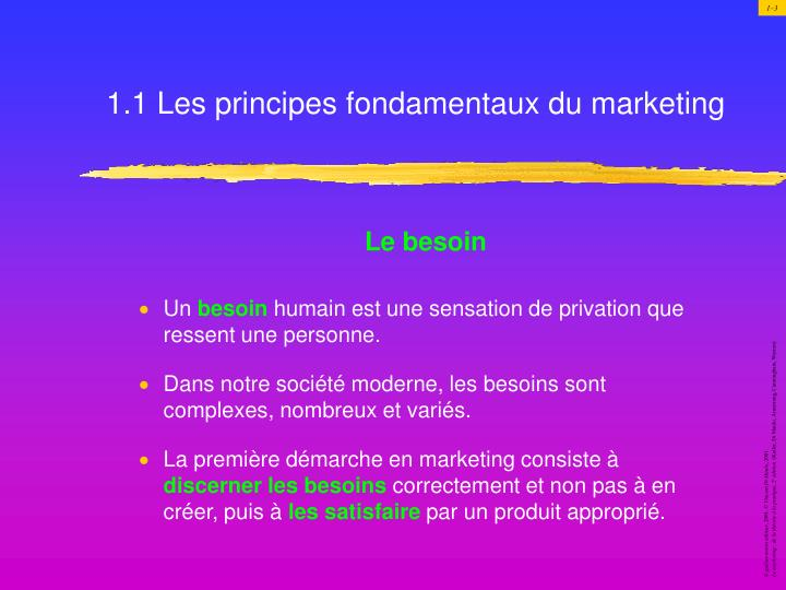 1 1 les principes fondamentaux du marketing