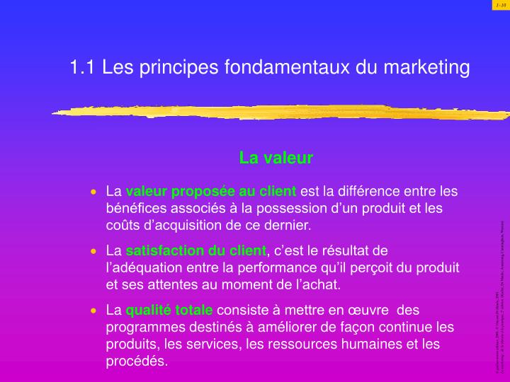 1.1 Les principes fondamentaux du marketing