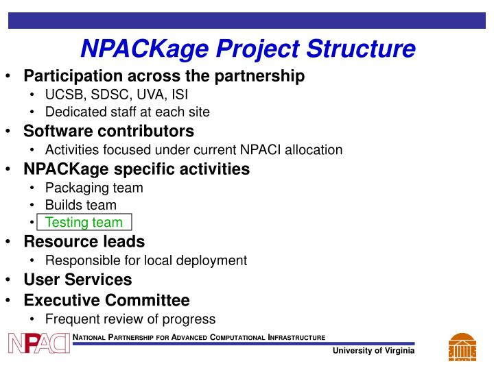 NPACKage Project Structure