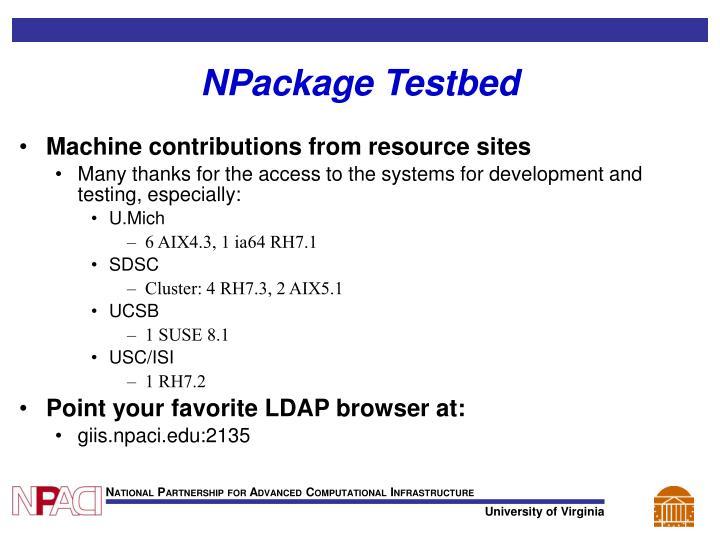 NPackage Testbed