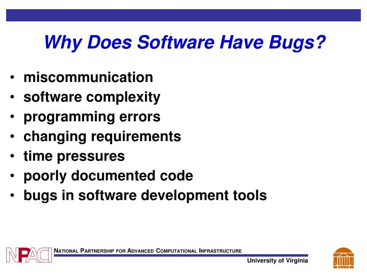 Why Does Software Have Bugs?