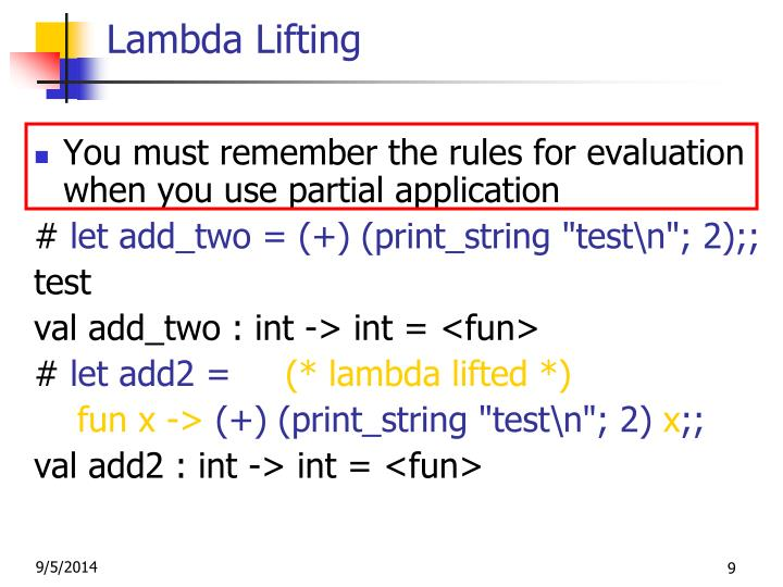 Lambda Lifting