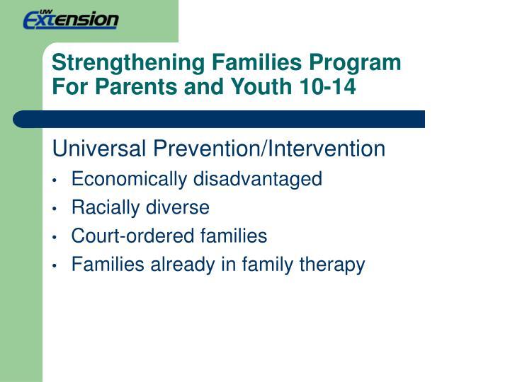 Strengthening Families Program