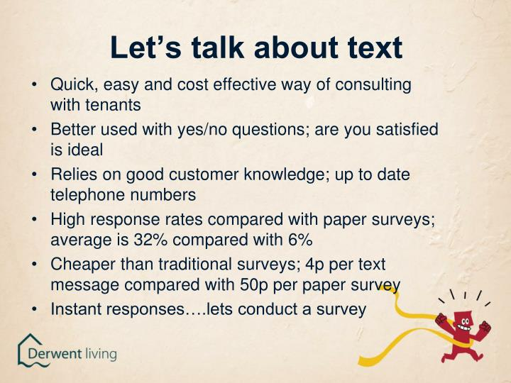 Let's talk about text