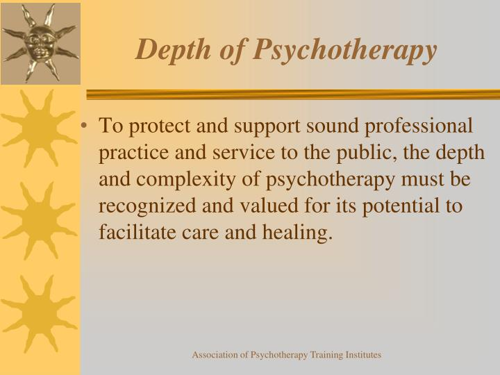 Depth of Psychotherapy