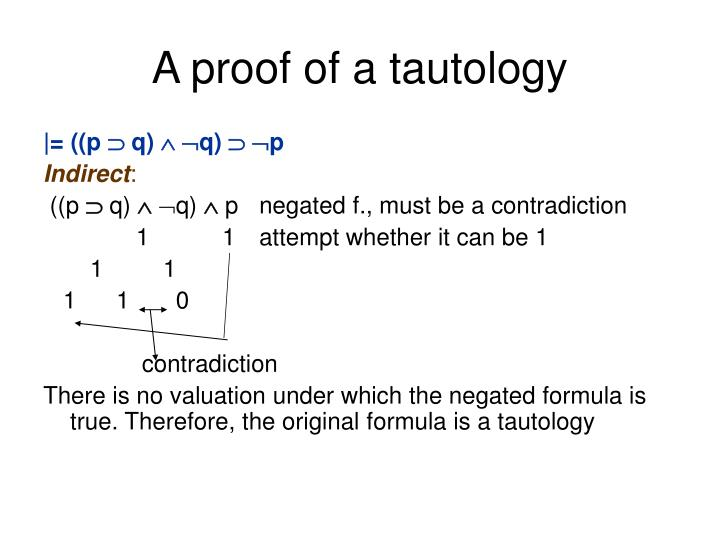 A proof of a tautology