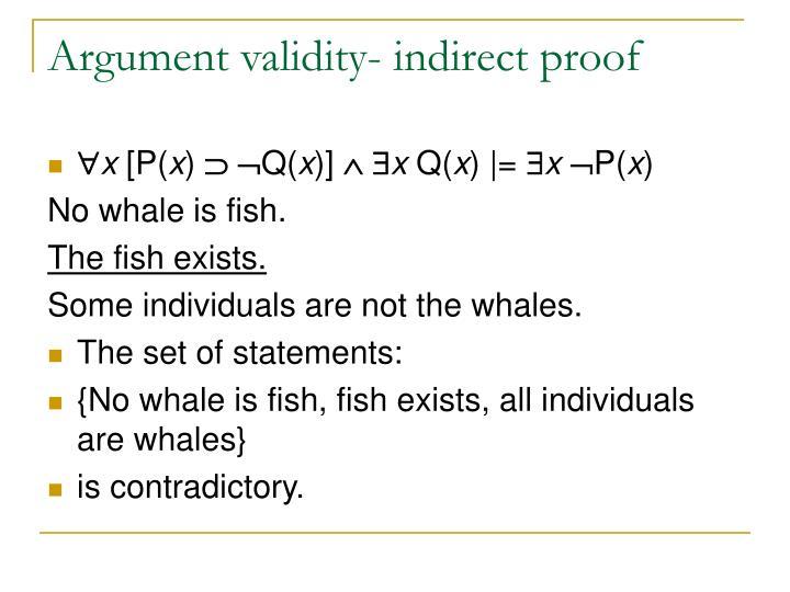 Argument validity