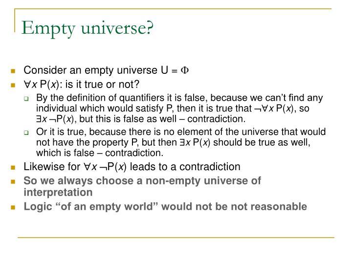 Empty universe