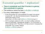 existential quantifier implication